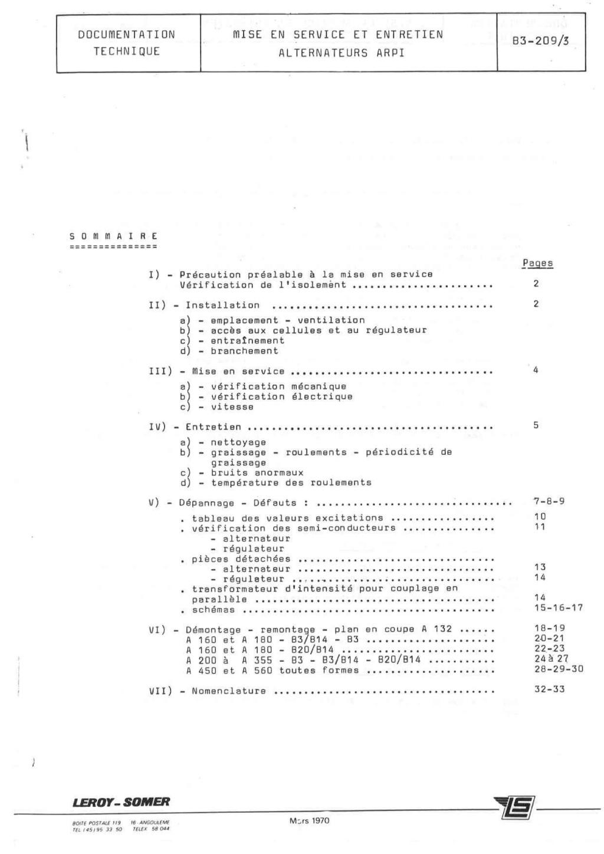 remise en marche d'une génératrice leroy TA200 B3_20912