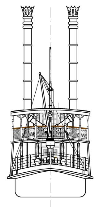 Maquette du Mark Twain (Disneyland Paris) Plan_g18
