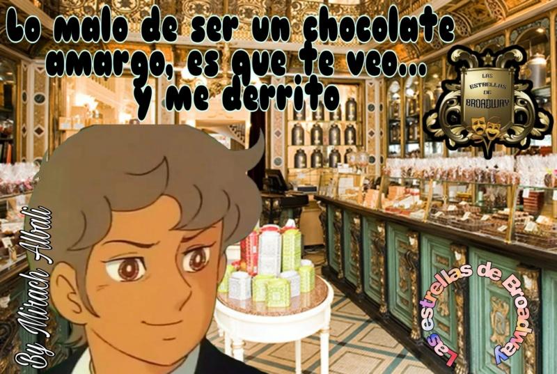 LAS ESTRELLAS DE BROADWAY PRESENTANDO FIRMA EL CHOCOLATE AMARGO Picsar25