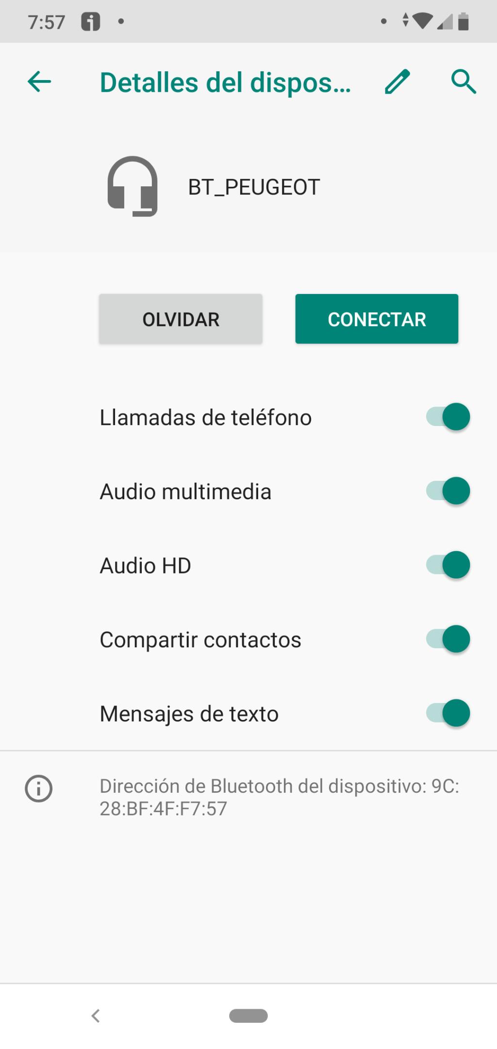Problemas con el teléfono y BLUETOOCH Detall10