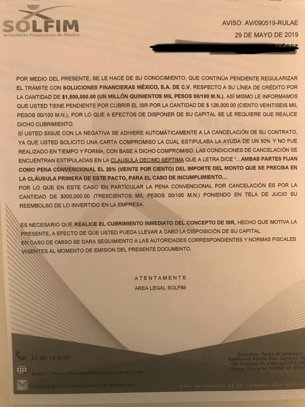 Fraude respaldos y garantías libertad l, solfim y grupo de alcance y economía dinámica s.a de c.v  66c50610