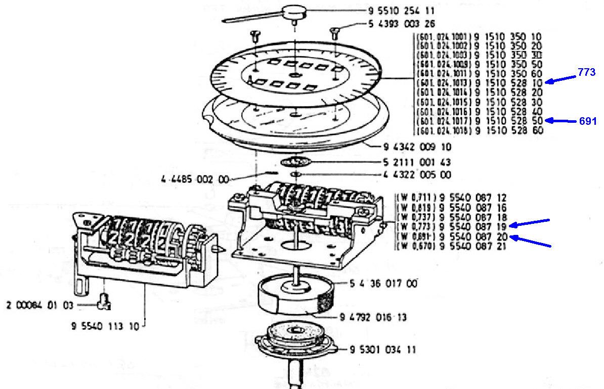 Ratio compteur R80RT1 de fin 1985 Bloc_t10