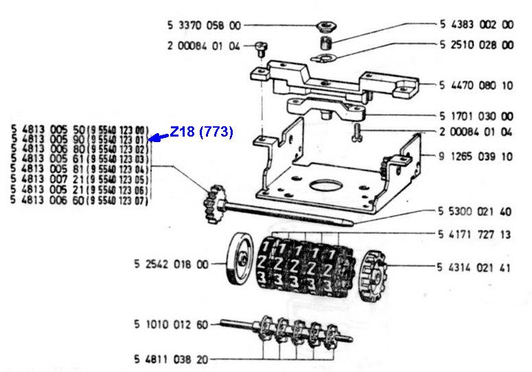 Ratio compteur R80RT1 de fin 1985 Totali10
