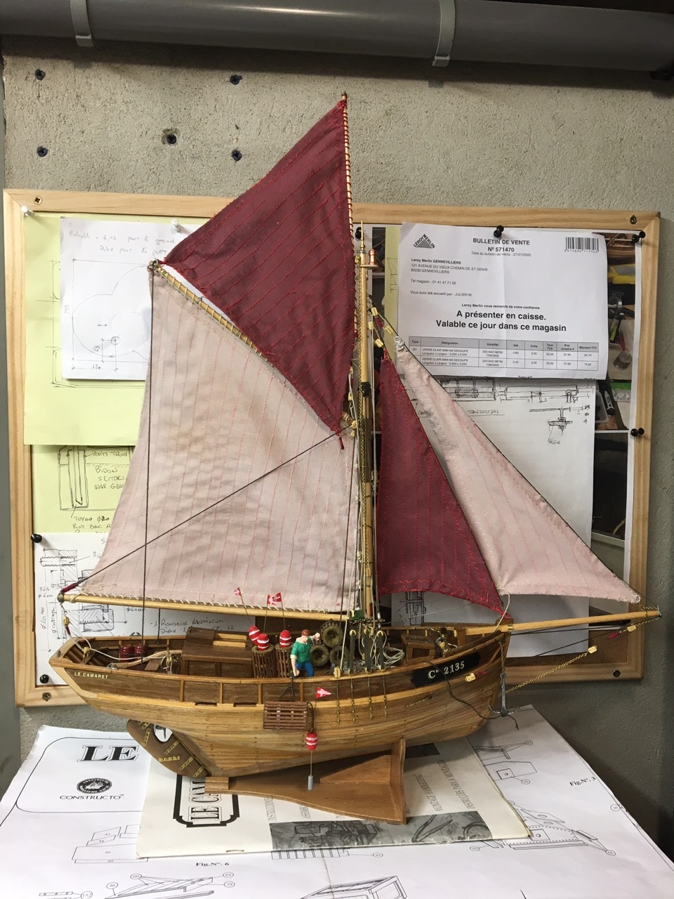 Langoustier Breton «Le Camaret» échelle 1:35ème - Constructo Dc3add10