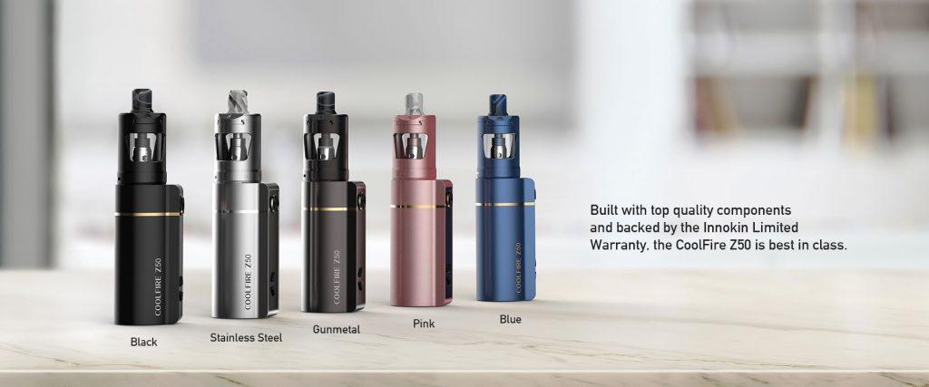 Innokin CoolFire z50 : batterie seule ou kit complet avec le Zlide Coolfi10