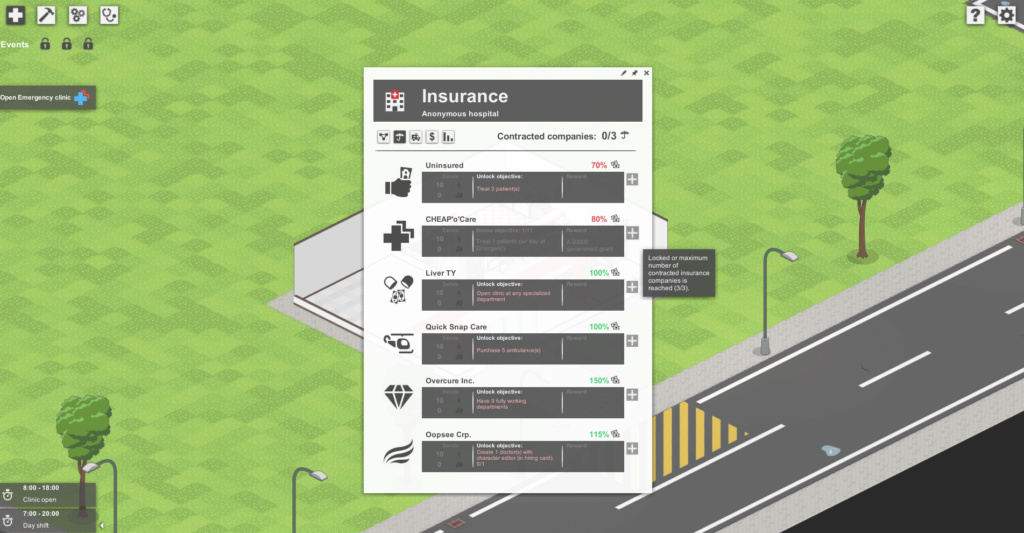 [RESOLVED NOT A BUG] No insurance company available Screen11