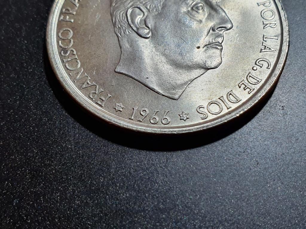 100 Pesetas 1966 (*19-69). Palo recto. Estado Español 20200317