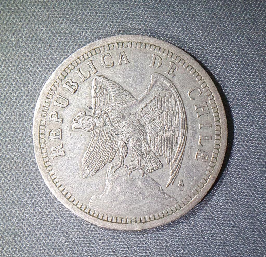 Un Peso 1933 Chile, Cerro Tronador  20201011