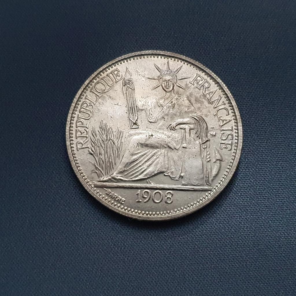 1 Piastra Indochina 1908 falsa? 20201114