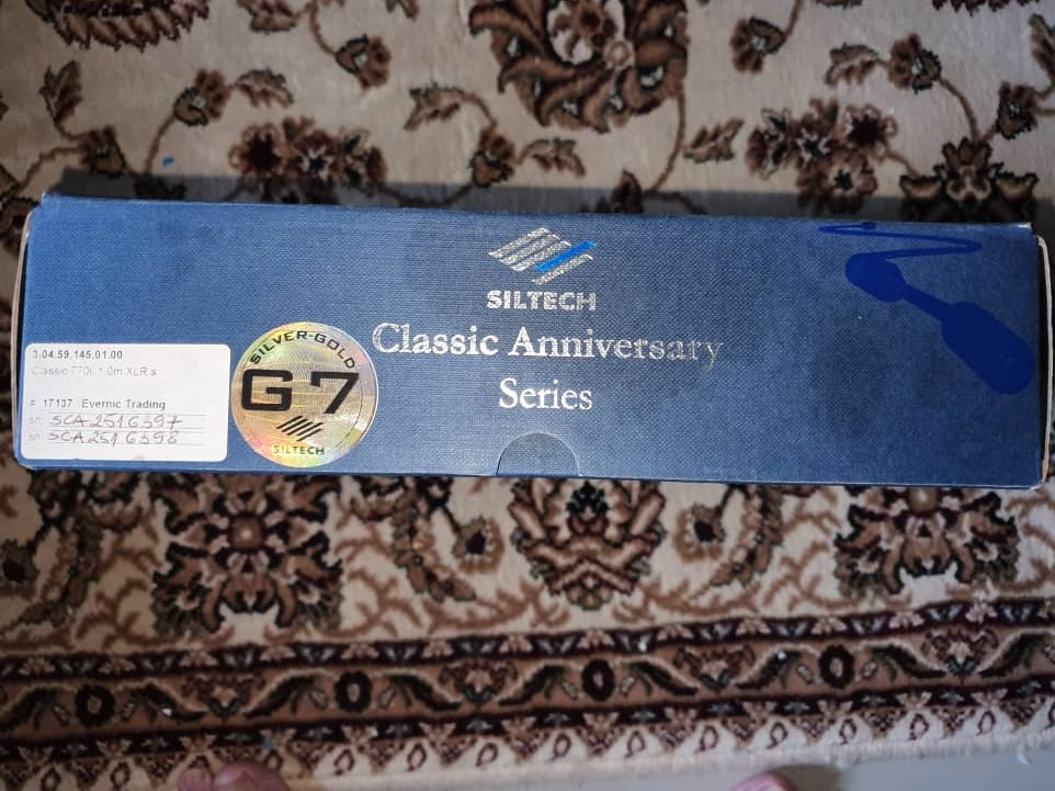 Siltech Classic 770i Analogue Interconnects (XLR 1m) - Sold S210