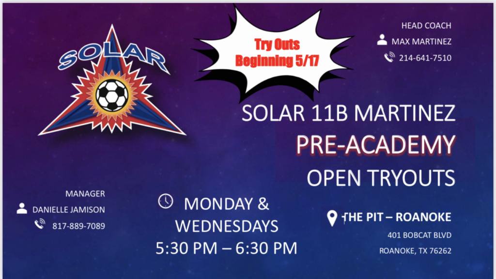 Open Tryouts Sessions Solar West Pre-Academy 2011B 3a005610