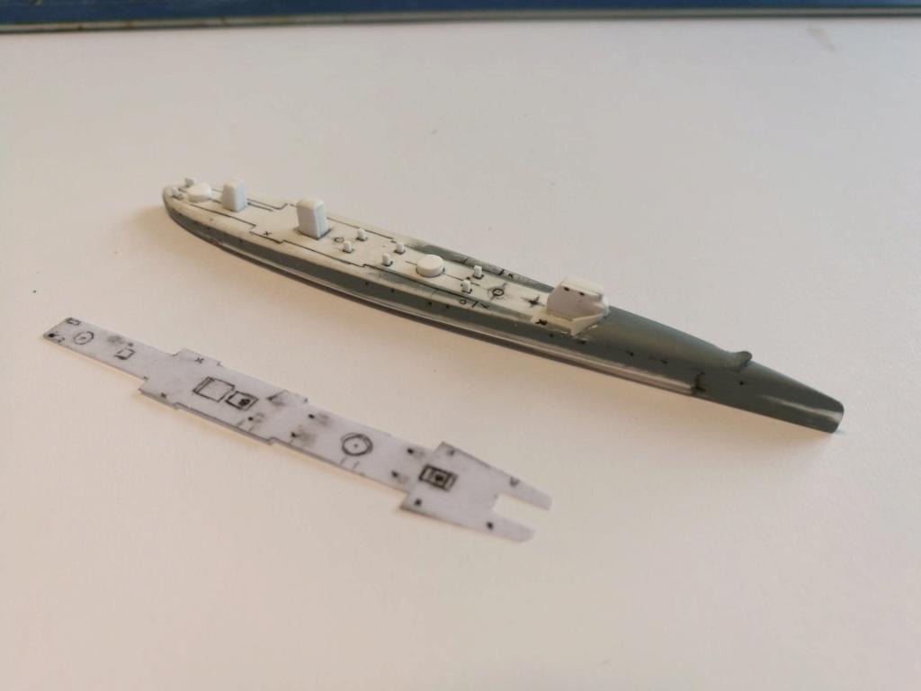 Contre torpilleur Arquebuse 1/600 scratch 19730510