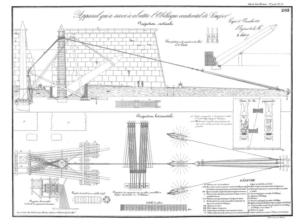 Transport de l'obélisque de Louxor : un défi technique digne de son époque Gm04pl11