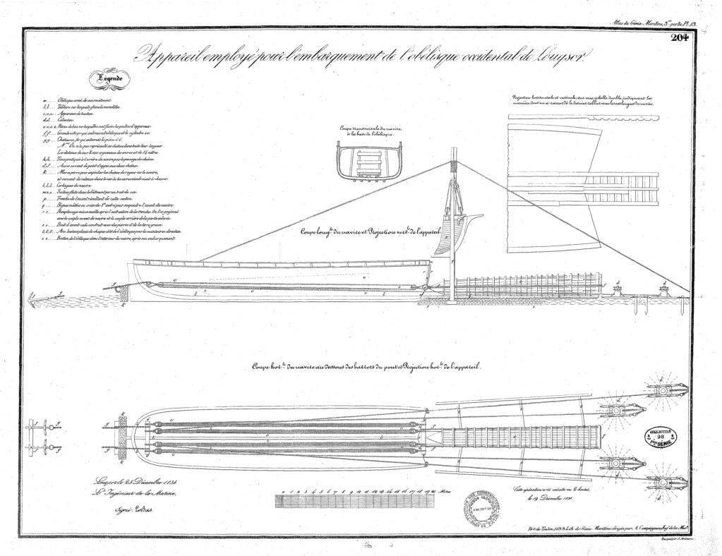Transport de l'obélisque de Louxor : un défi technique digne de son époque Gm04pl13