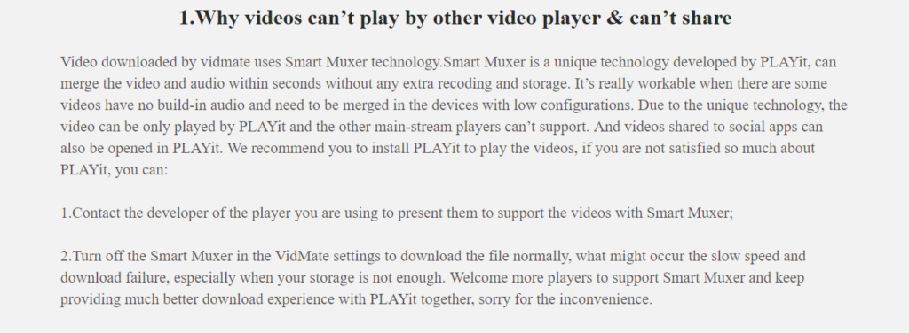 """Please add support for a technology called """"Smart Muxer Technology"""" Screen10"""