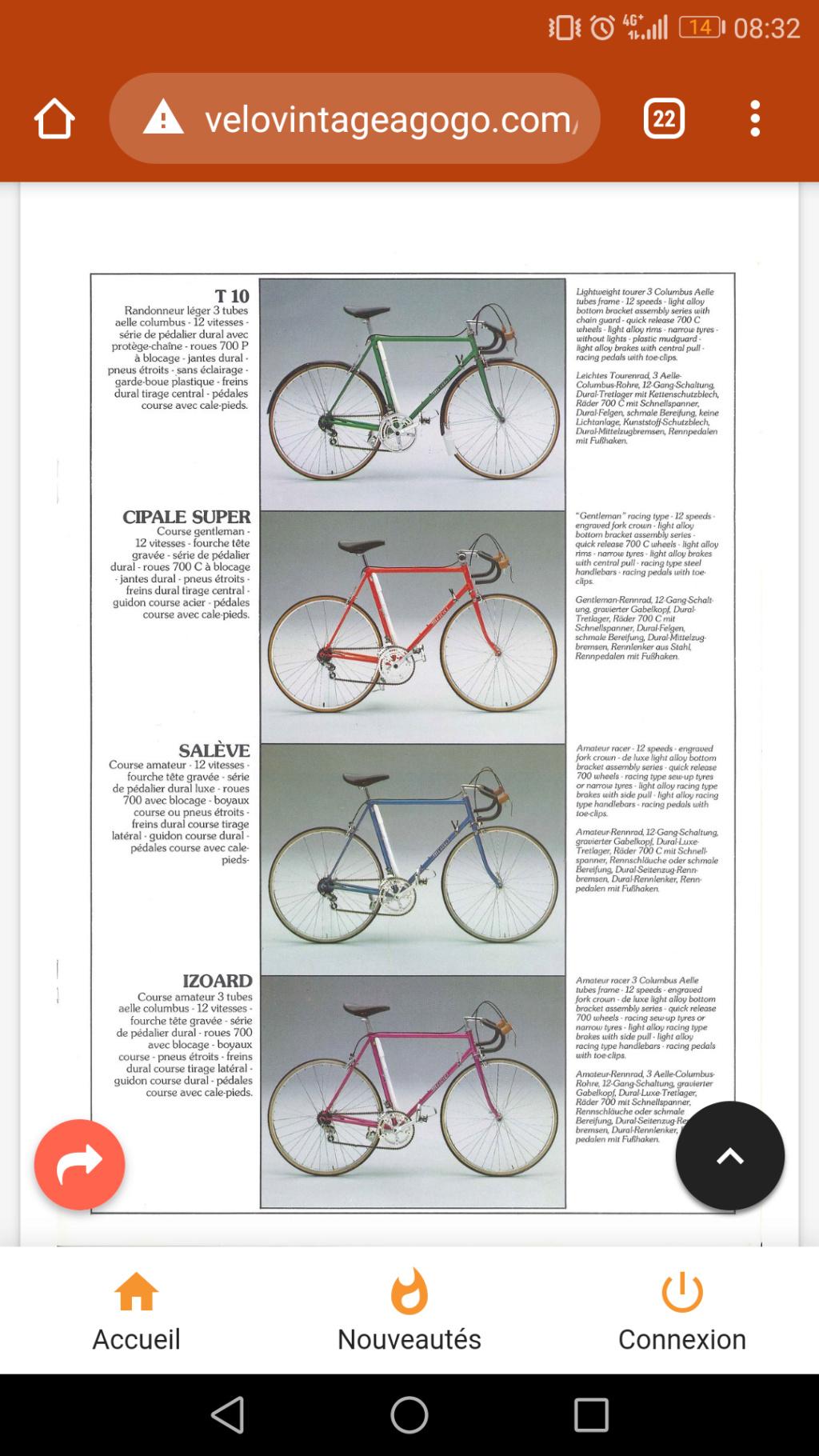 Identification Vélo de Course Mercier Rouge Screen10