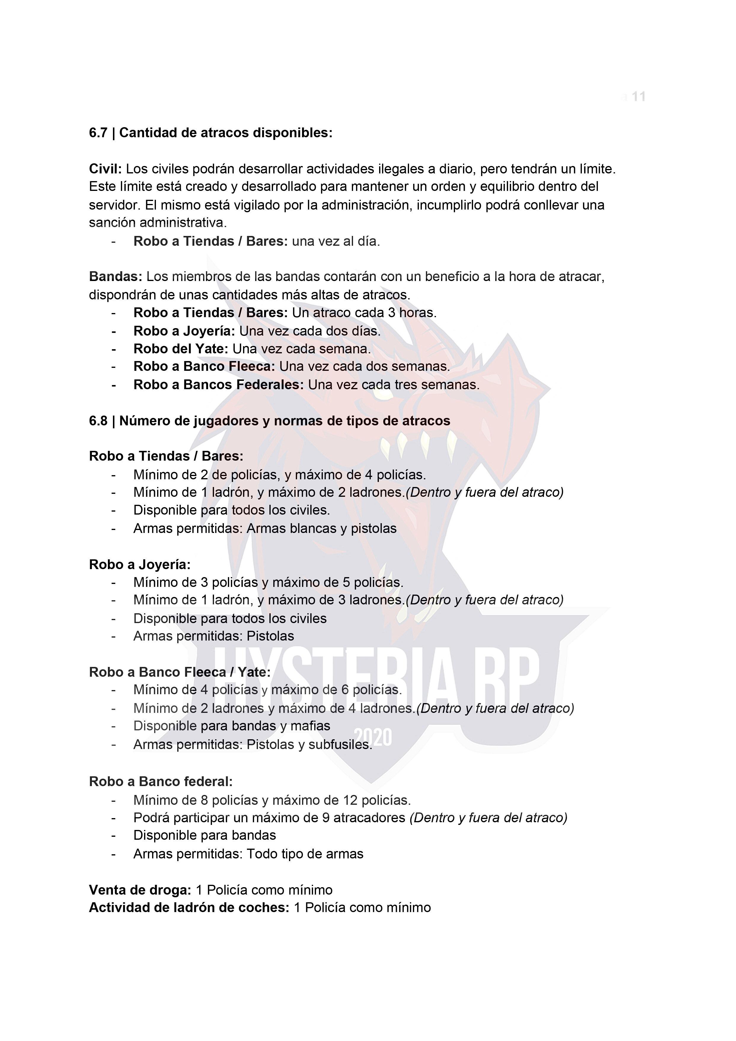 Normativa General | Hysteria RP Normat10