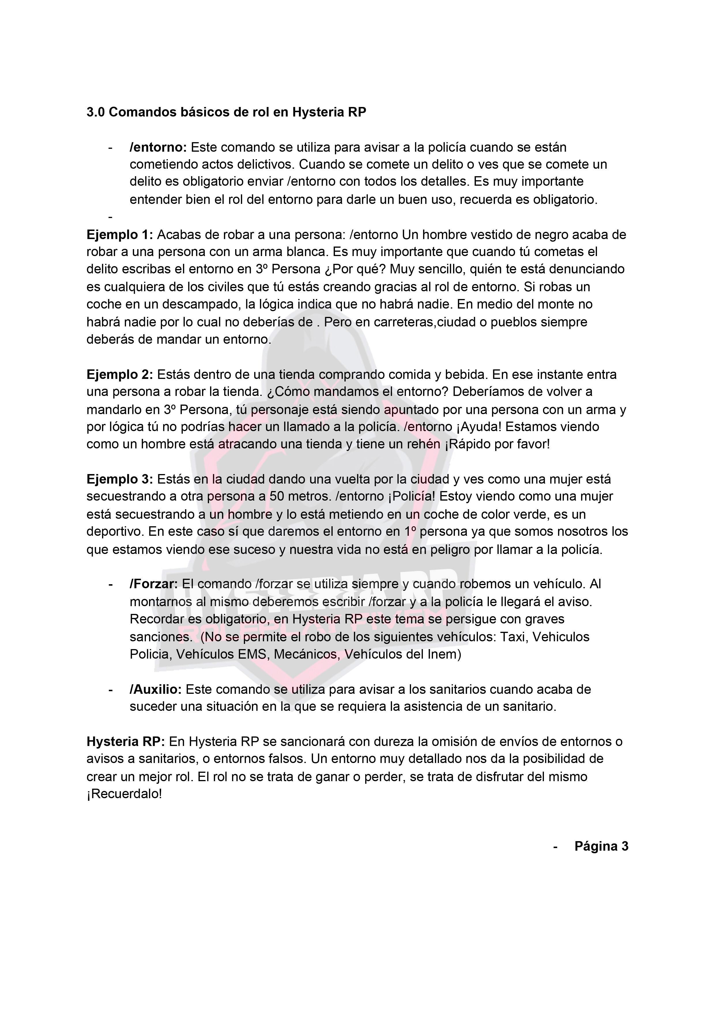 Normativa General | Hysteria RP Normat13