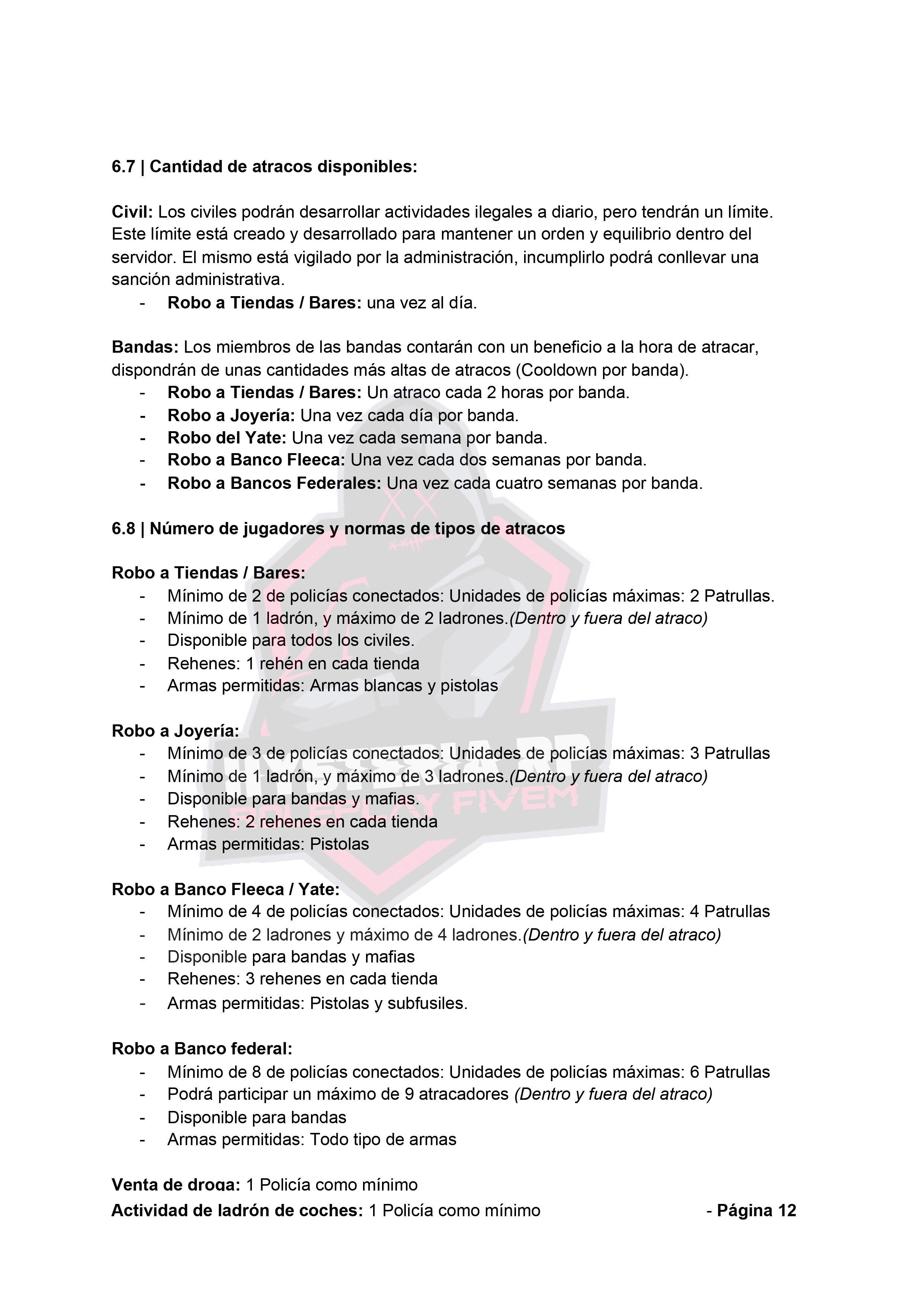 Normativa General | Hysteria RP Normat20