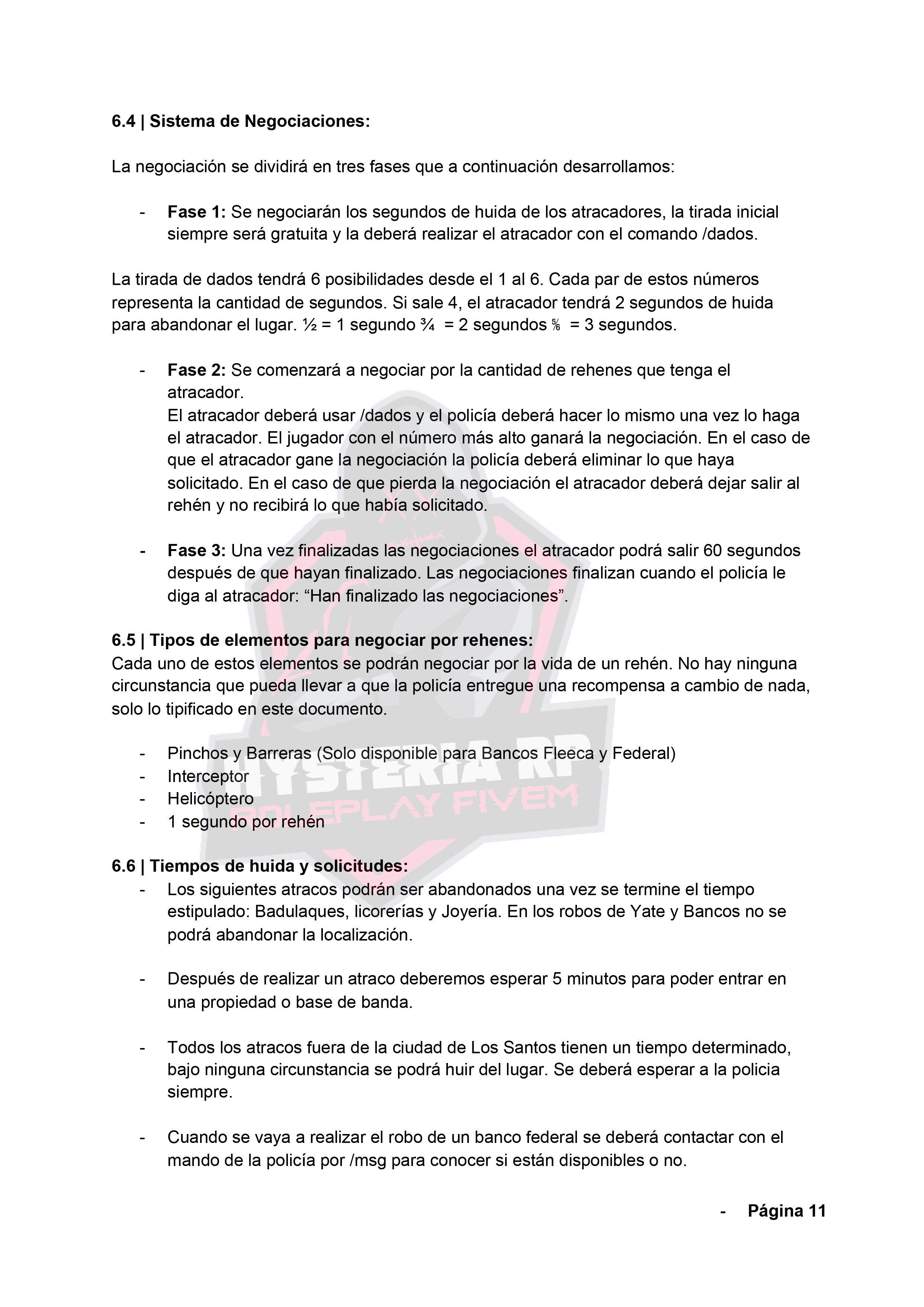 Normativa General | Hysteria RP Normat22