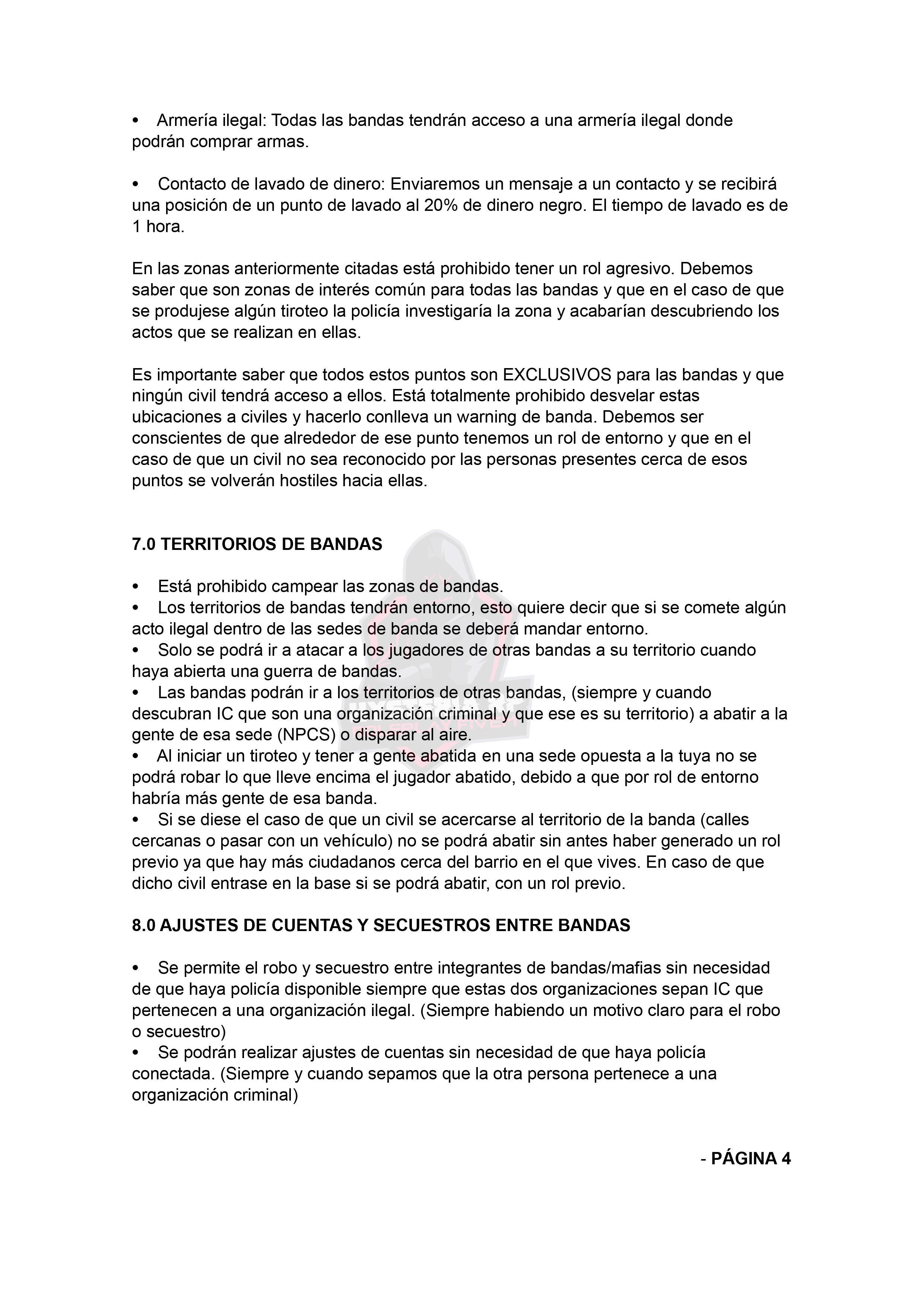 Normativa de Bandas | Hysteria RP Normat27