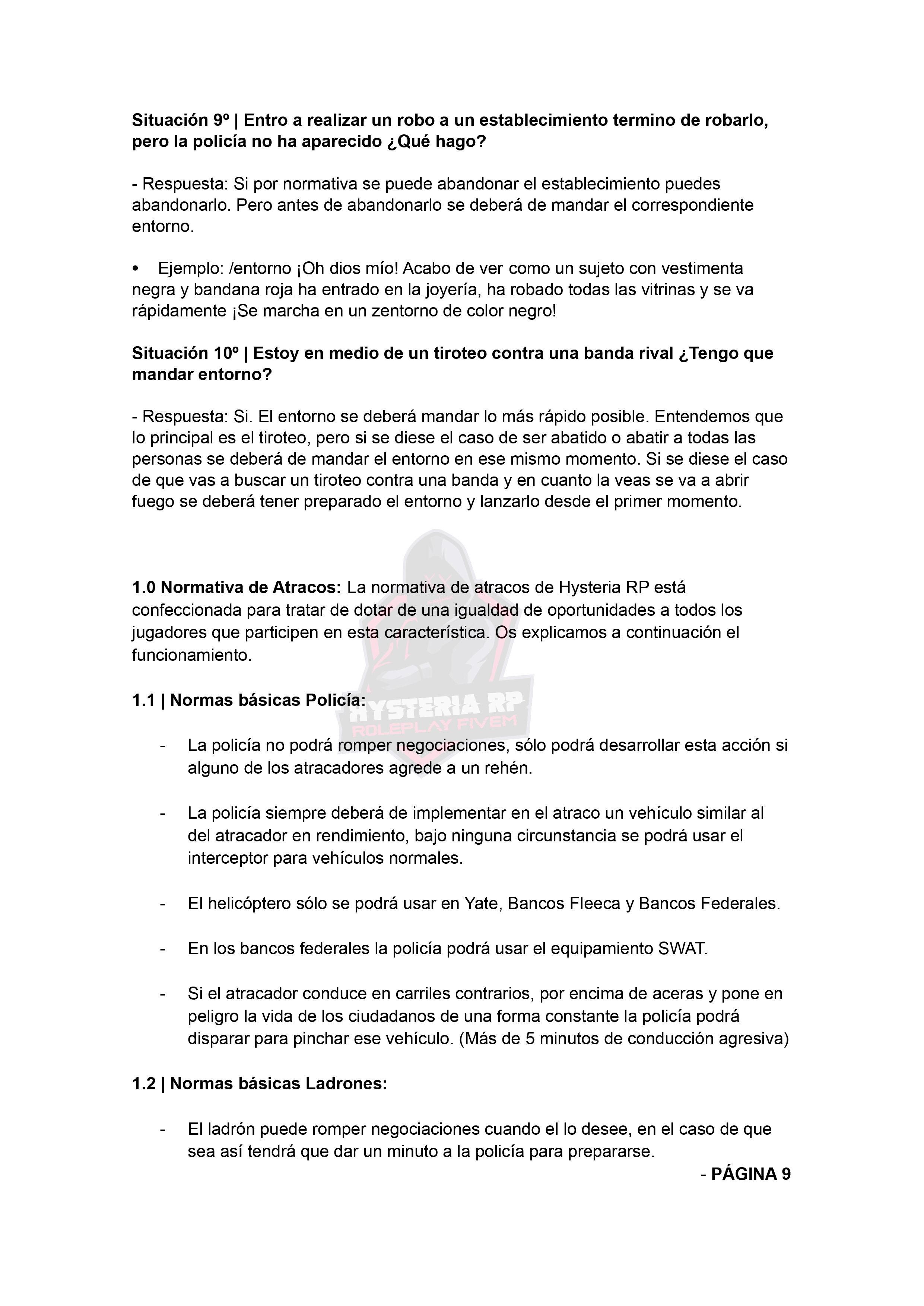 Normativa de Bandas | Hysteria RP Normat32