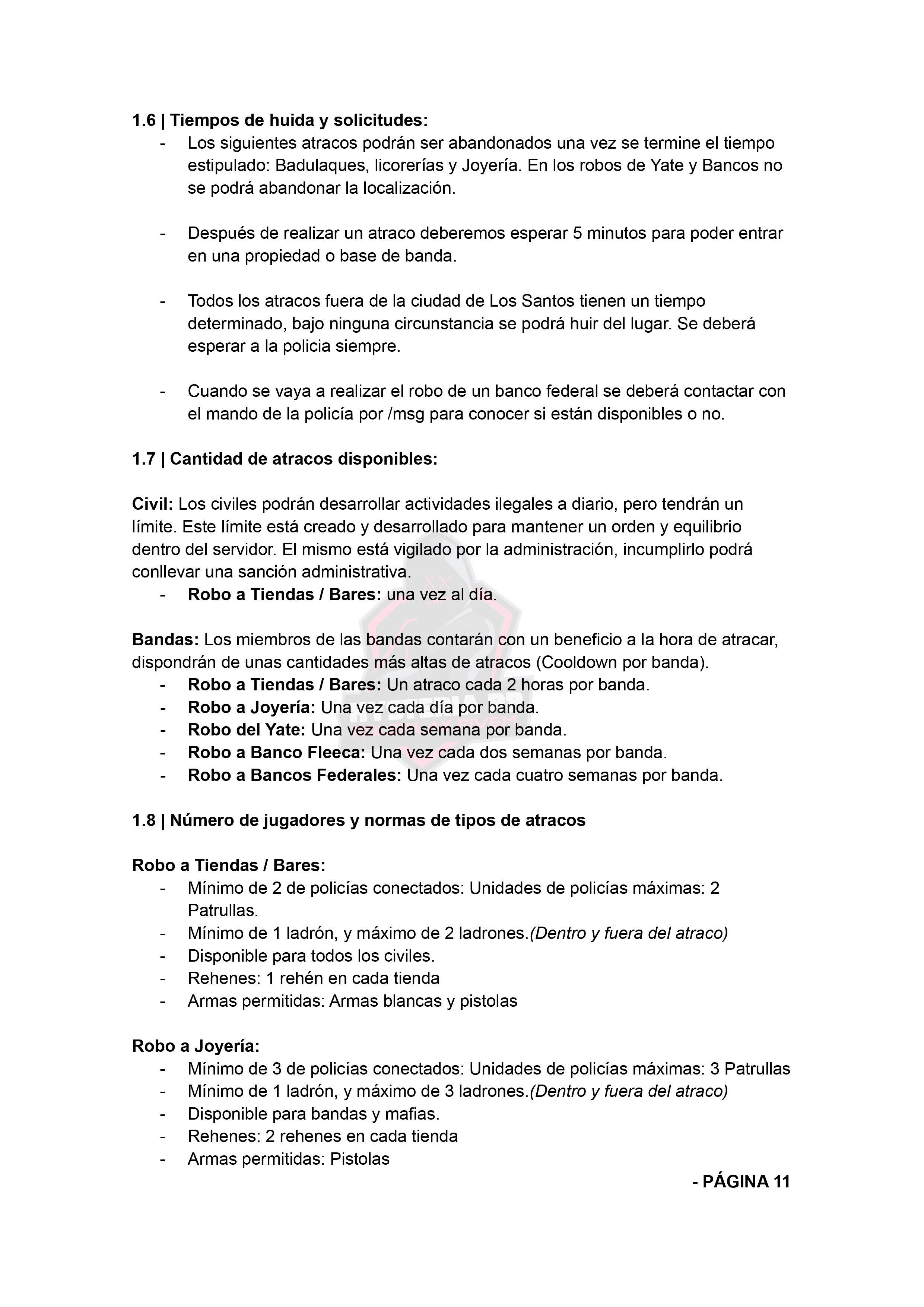 Normativa de Bandas | Hysteria RP Normat34