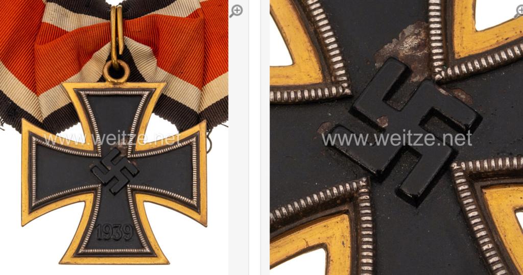 Grande croix de La Croix de fer en or.... 0545b610