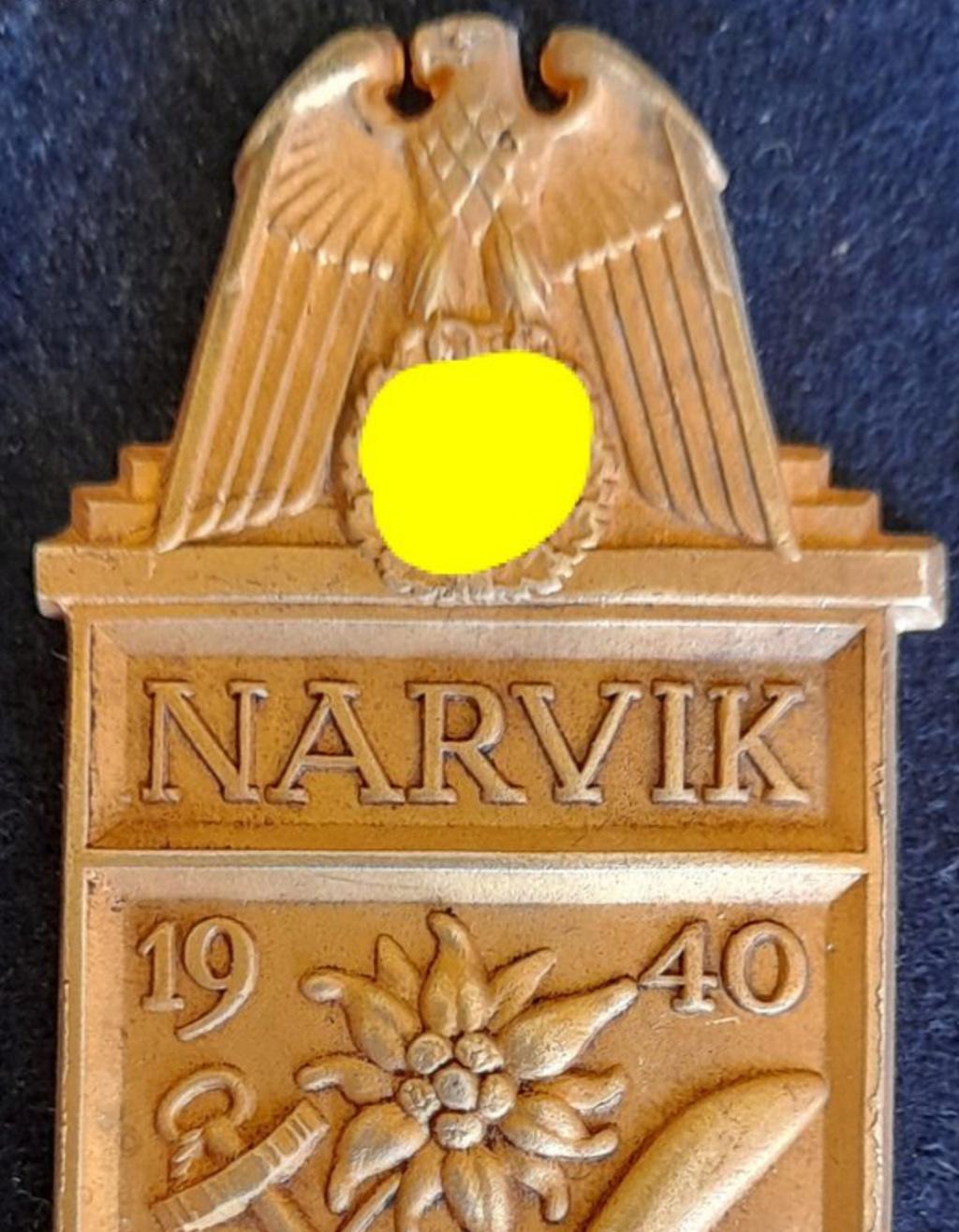 Authentification plaque Narvik WW2 0a578310