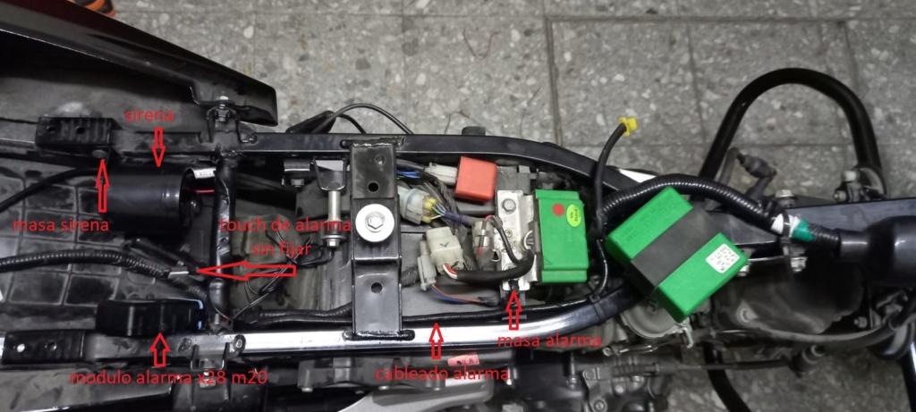 Instalacion alarma x28 M10 y M20 en Rouser 135 ls - Paso a Paso 610