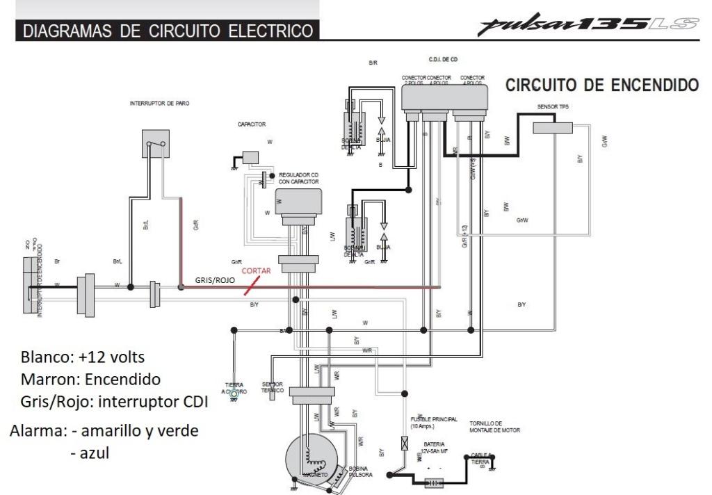 Instalacion alarma x28 M10 y M20 en Rouser 135 ls - Paso a Paso Arranq10
