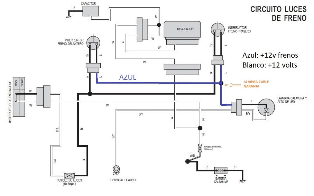 Instalacion alarma x28 M10 y M20 en Rouser 135 ls - Paso a Paso Frenos10