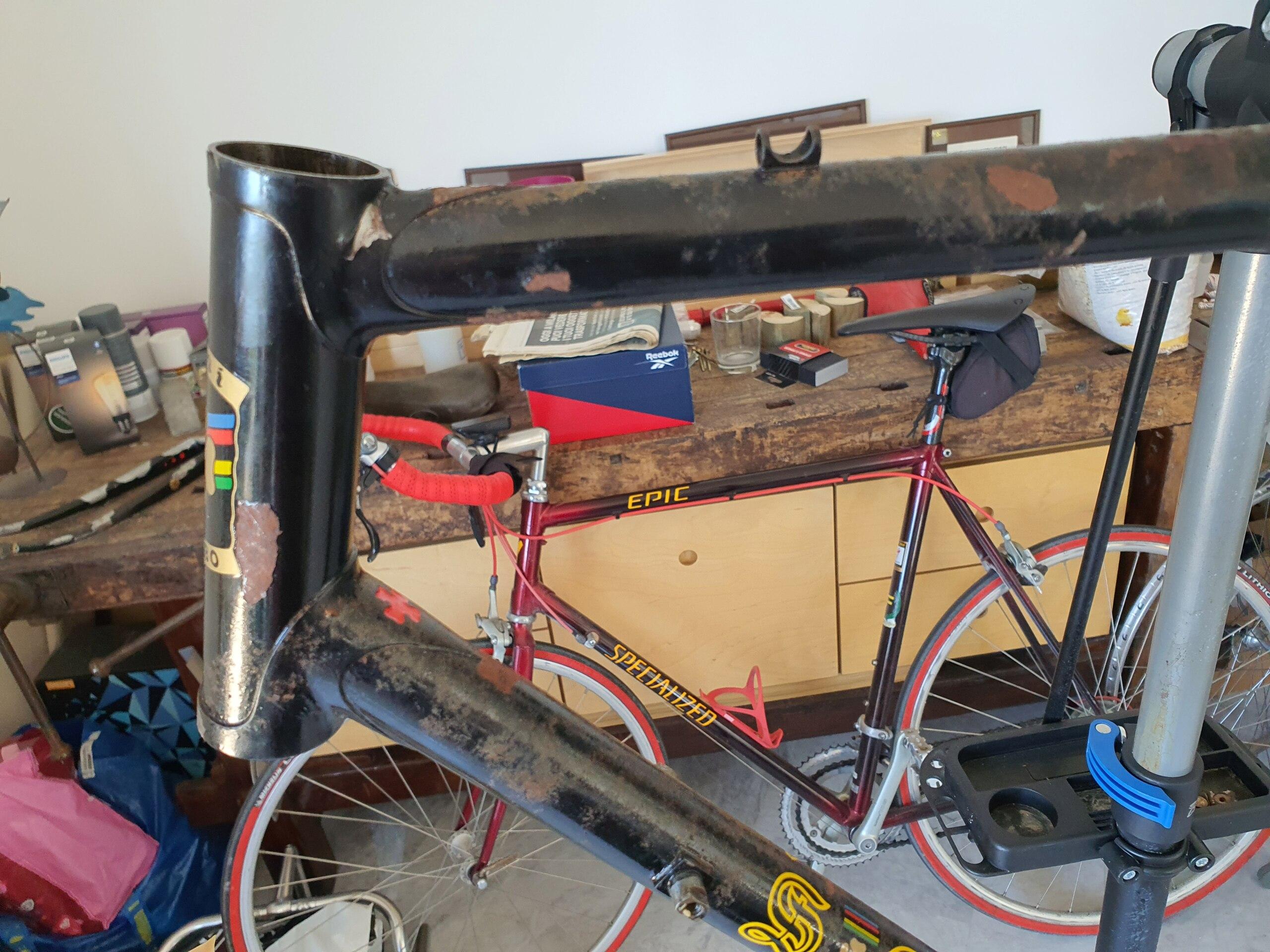 Restauration vélo TOMI 1977 (peut être). Cadre - peinture ou pas? 20211015