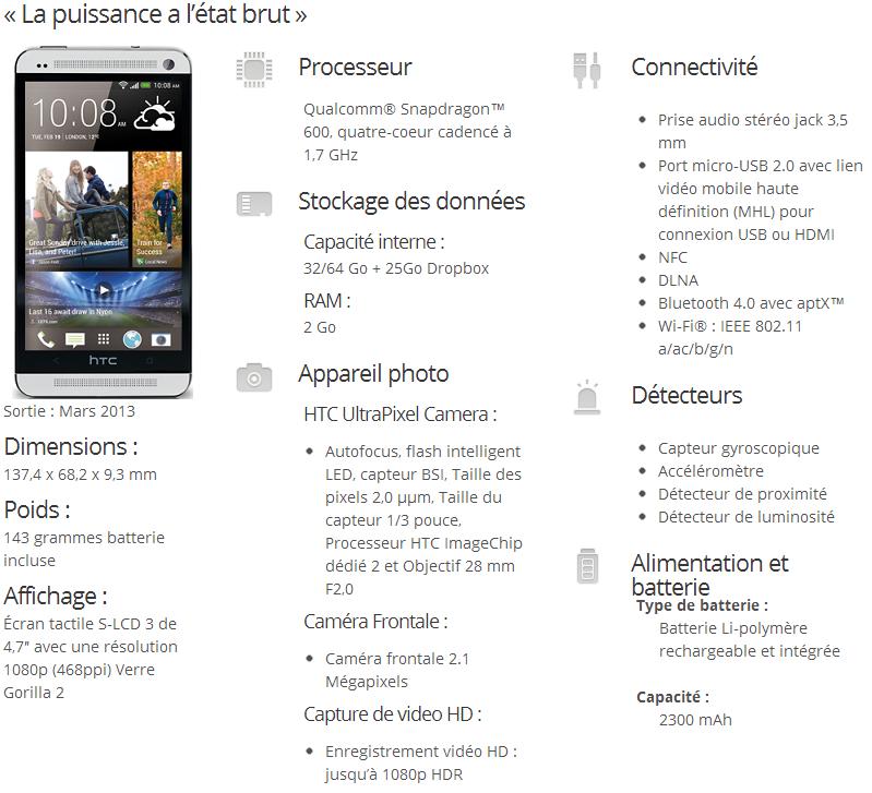 [INFO] Caractéristiques du HTC One Htc_on10