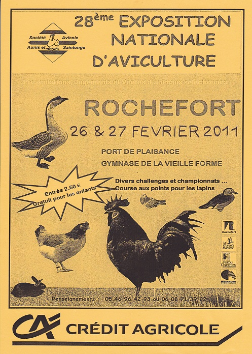 Exposition nationale d'aviculture : Rochefort le 26 et 27 février 2011 Img_0010