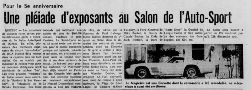 Salon Auto Sport Quebec 1974 5e7410