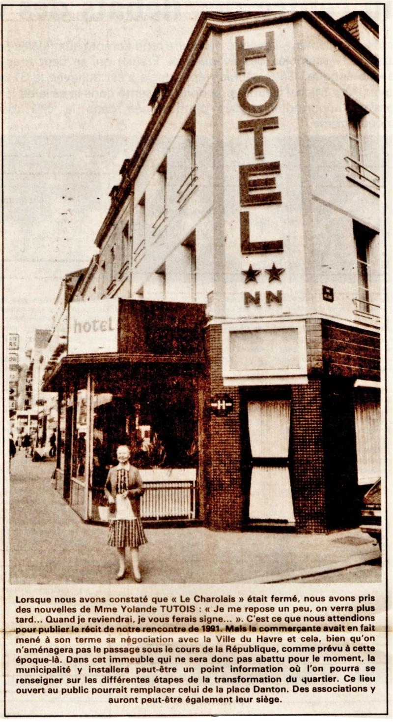 Havre - Le Havre - Hôtel Charolais de la famille LIHRMANN au Rond-Point 1992-111