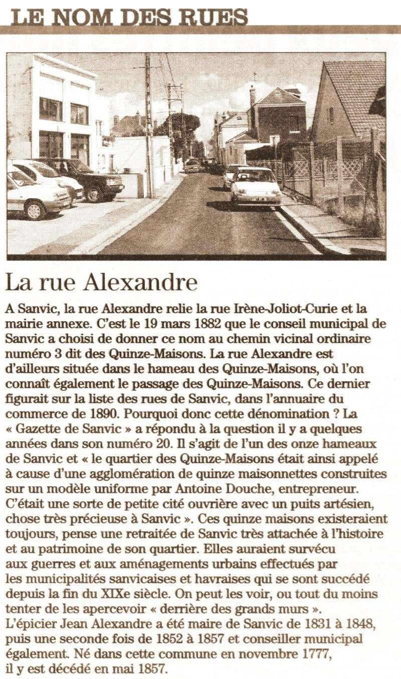 SANVIC - Sanvic - Rue Alexandre 2010-010