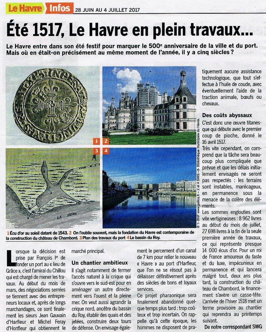 Havre - Été 1517, Le Havre en plein travaux ... 2017-044