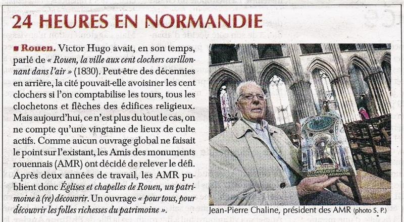 Eglises et chapelles de Rouen publié par l'AMR et Jean-Pierre CHALINE 2017-124