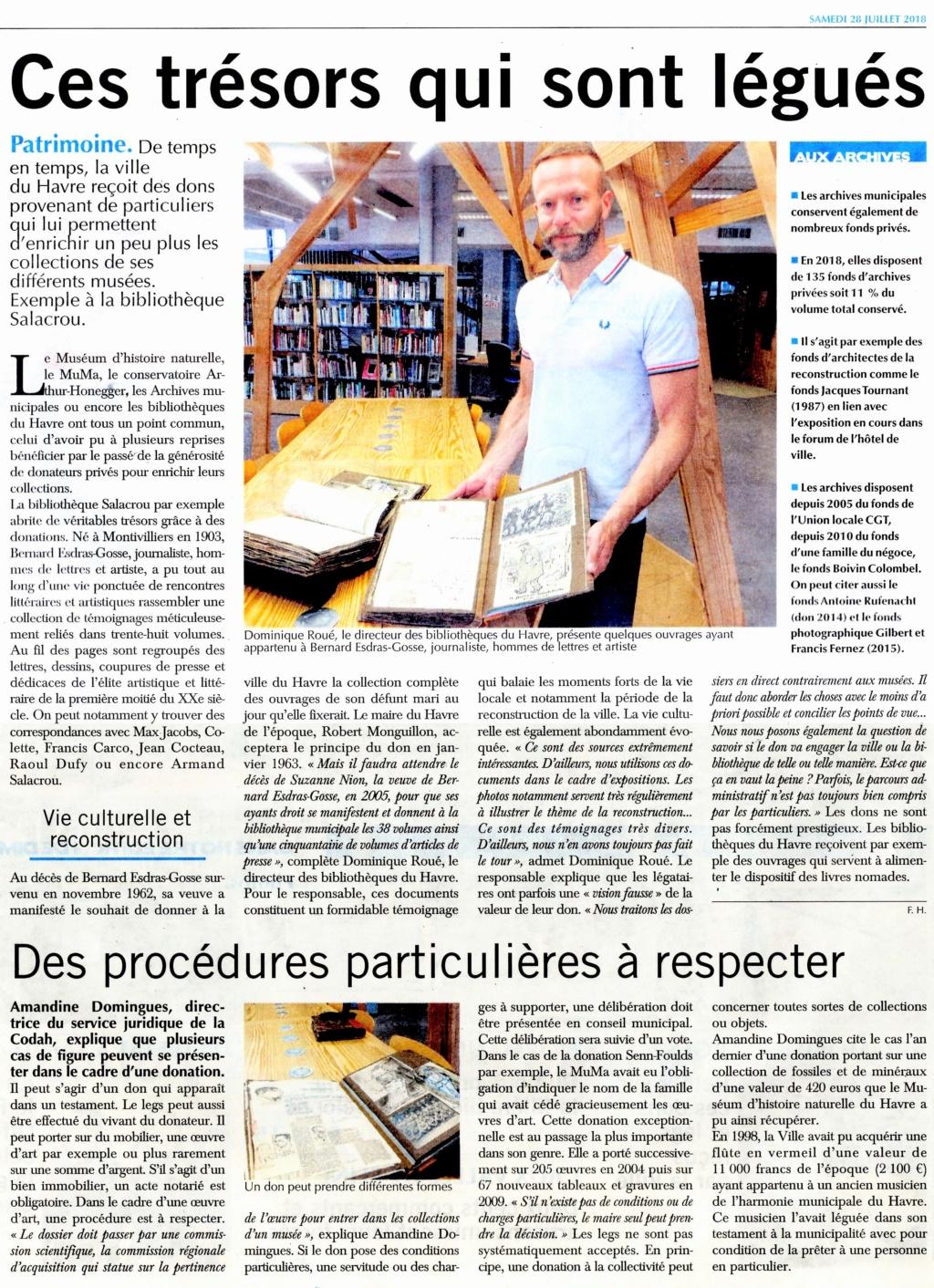 Ces trésors qui sont légués aux archives du Havre 2018-031