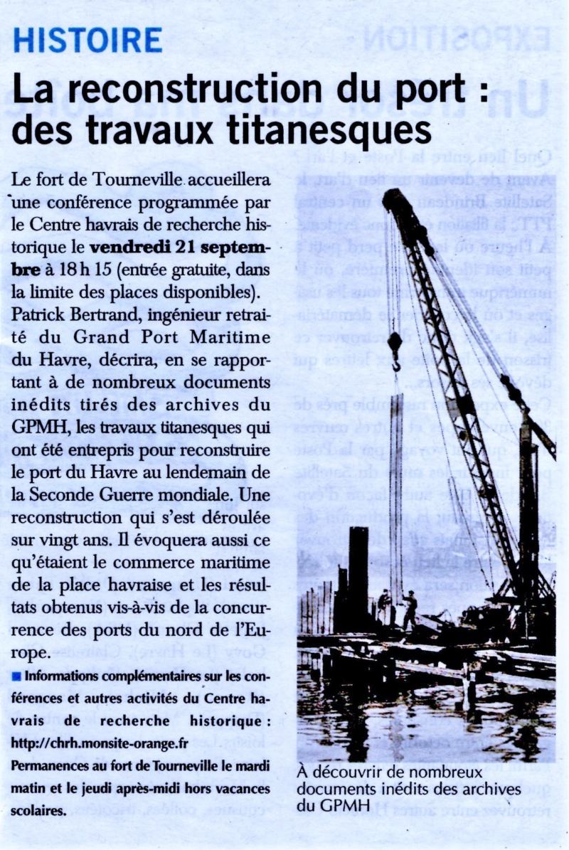 La reconstruction du port du Havre après 1945 par Patrick BERTRAND (CHRH) 2018-041