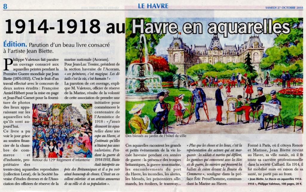 Havre - Jean BIETTE, Le Havre en aquarelles 1914-1918 par Philippe VALETOUX 2018-120