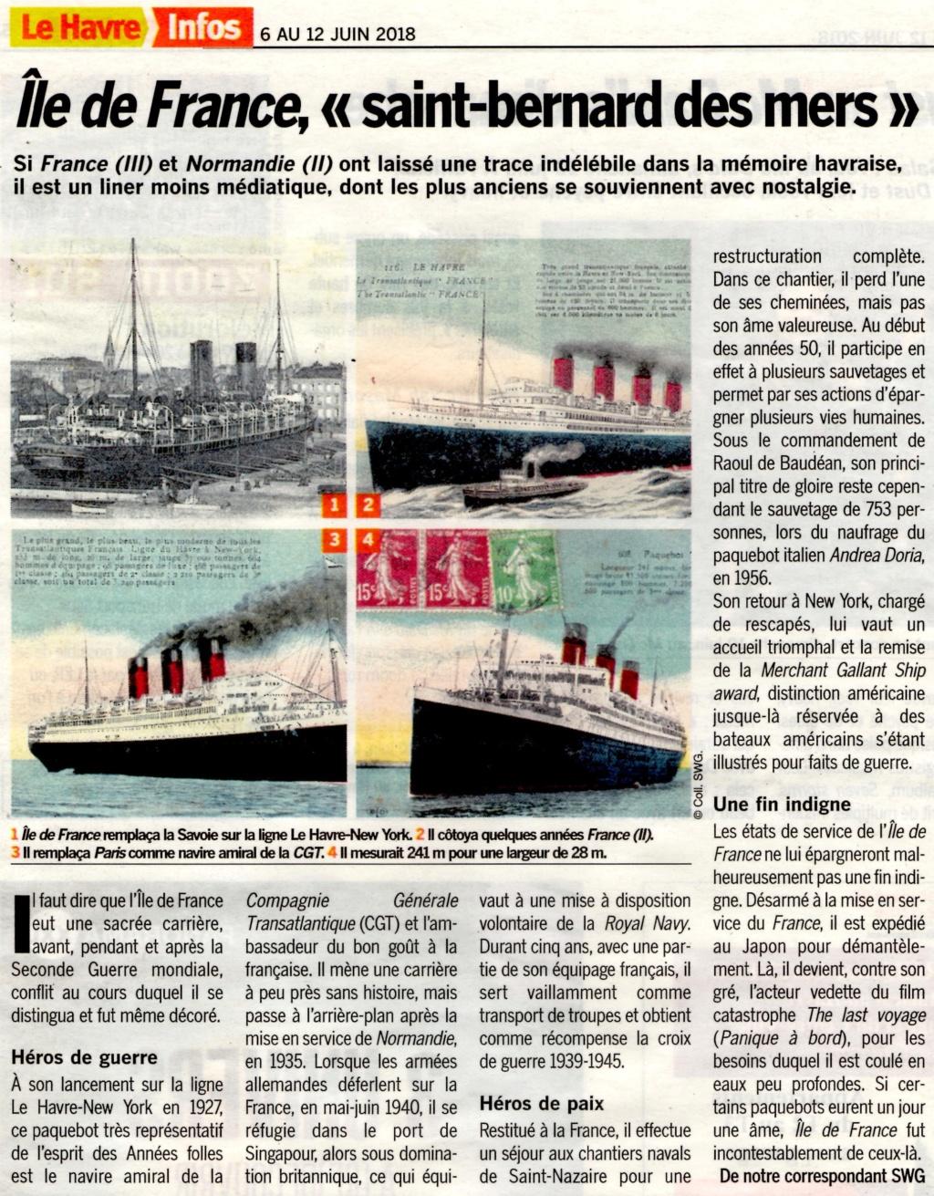 Le paquebot Ile de France, Saint-Bernard des mers 2018-149