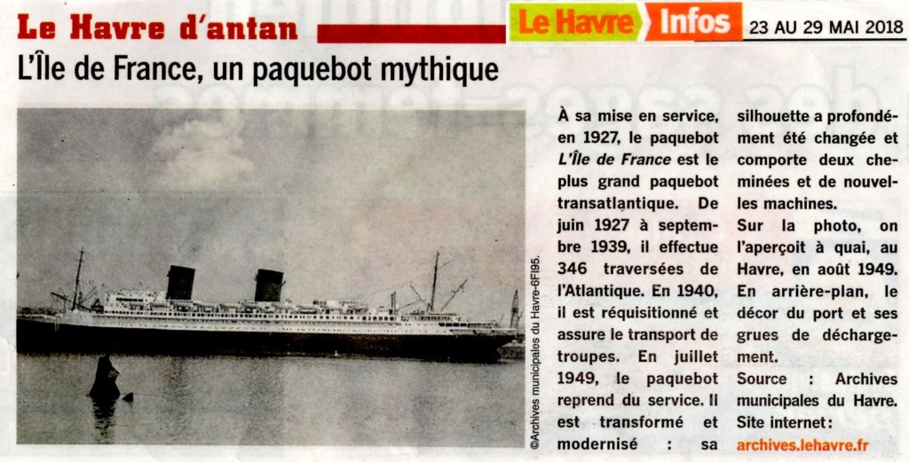 Le paquebot Ile de France, Saint-Bernard des mers 2018-158