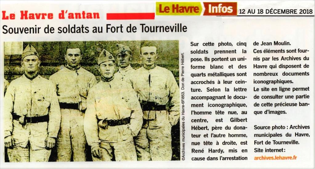 Souvenirs de soldats au Fort de Tourneville HÉBERT HARDY ... 2018-193