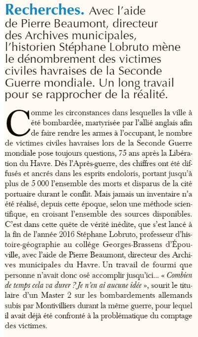 Niobé - Le Havre - Civils tués en 1939/45 2019-097