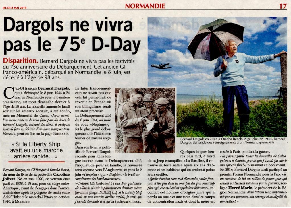 Bernard Dargols ne vivra pas le 75e D-Day 2019-168