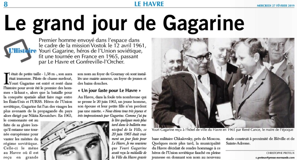 Youri GAGARINE au Havre et à Gonfreville-l'Orcher en 1965 2019-176