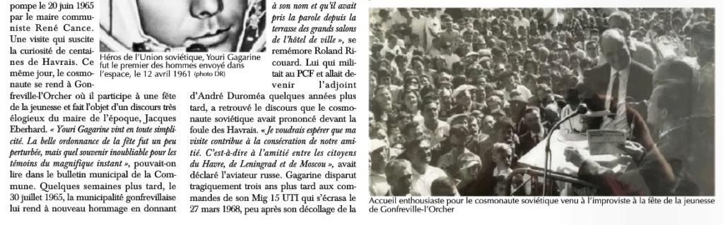 Youri GAGARINE au Havre et à Gonfreville-l'Orcher en 1965 2019-177
